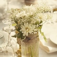 French Bistro Inspired Rustic Chic garden wedding filled with moss, burlap, and antique accents!