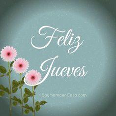 ¡buenos días, feliz jueves! #FelizJueves