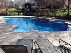 vinyl pool photos charlotte pool photos combined pool and raised spa http