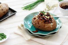 Baked Potato with Caramelized Onions and Mushrooms