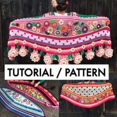 NL/UK/US tutorial crochet pattern  wrap online van Pollevie op Etsy