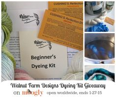 Yarn Dyeing Kit from Walnut Farm Designs Giveaway!