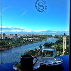 Morning coffee at Sheraton Adana Hotel! Turkish Coffee, Morning Coffee, Photo Credit, Management, Lounge, Smile, River, Club, World