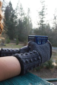 Knitting Pattern: Doctor Who Knit Fingerless Mitts; Dalek Fingerless Gloves, PDF file -- I love these! the pattern looks just like the dalek's body