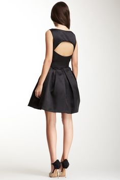 Sleeveless Satin A-Line Dress