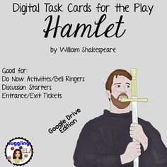 Digital Task Cards for Hamlet by William Shakespeare (Goog School Resources, Teacher Resources, Classroom Resources, British Literature, High School English, Student Reading, William Shakespeare, Educational Technology, Task Cards