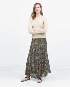 ZARA - WOMAN - LONG DRAPED PRINTed SKIRT