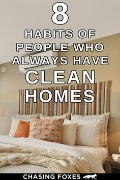 How to clean your house like a pro! These home cleaning hacks are just what I needed to make my house clean and tidy. So glad I found these cleaning tips for my cleaning schedule! #ChasingFoxes #CleaningHacks #CleaningTips
