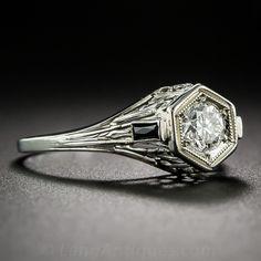 .38 Carat Art Deco Diamond Engagement Ring - 10-1-6714 - Lang Antiques