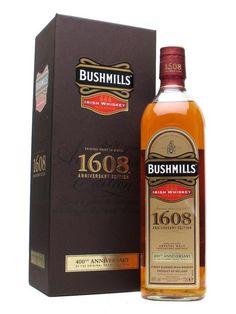 Bushmills 1608 - Anniversary : The Whisky Exchange Whiskey Drinks, Scotch Whiskey, Bourbon Whiskey, Wine Drinks, Whiskey Bottle, Beverages, Single Malt Irish Whiskey, Wine Finder, Gula