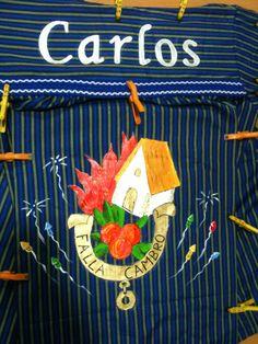 Blusa tela fallas pintada a mano / hand painted fabric