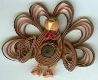 Quilled Turkey - whimisquills.com