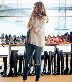 Olivia can't live without her AG Denim Leggings // #fashion