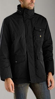 Black tech field jacket