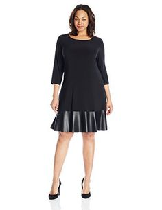 """Product review for Tiana B Women's Plus-Size Solid Jersey Dress and Faux Leather Bottom Band.  - Enjoy this dress for all you need to do in a day, work and or going out       Famous Words of Inspiration...""""Men talk of finding God, but no wonder it is difficult; He is hidden in that darkest hiding-place, your heart. You yourself are a part of..."""