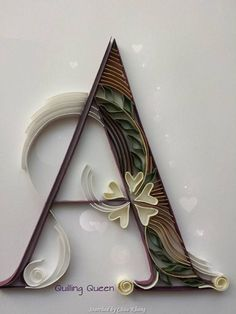 ©Quilling queen- ABCs quilling (Searched by Châu Khang)
