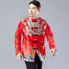 Present your best look with these 3-color choice range of exquisitely designed men dragon and Chinese New Year attire specially custom-made for men. Chinese New Year Gifts, Dragon Pattern, Custom Made, Print Patterns, Graphic Sweatshirt, Sweatshirts, Coat, Sweaters, Range