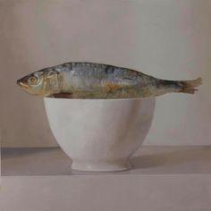 Zen Sardin - Rafael De La Rica - 100x100 cm - Oil in wood