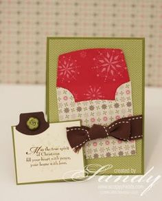 It's a card in a card.  Would be nice to use the die cutter for this!