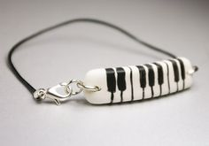 Piano, Cold Porcelain Bracelet,
