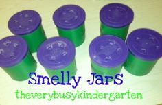 """Using the book, """"Sniff, Sniff"""" for a lesson on the sense of smell. Kids try to identify a variety of smells from """"smelly jars"""".might be good for geographically studies via the 5 senses for the """"Scents of X"""" Five Senses Preschool, My Five Senses, Senses Activities, Science Activities For Kids, Kindergarten Science, Science Classroom, Science Lessons, Kindergarten Classroom, Teaching Science"""
