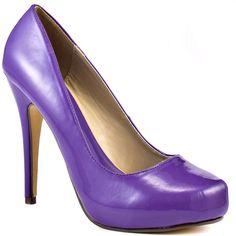 Michael Antonio Love Me - Purple Patent found on Polyvore