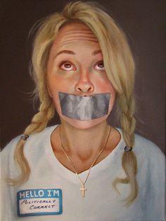 Hello I'm Politically Correct by Cristina Ramos Celine, Feminist Art, Conceptual Art, Contemporary Paintings, Make Me Smile, Street Art, Tattoo Designs, Photos, Artsy