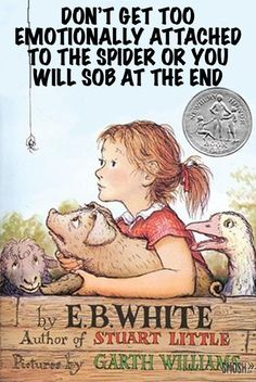 20 Popular Books Given Absolutely Horrible Titles  Don't get too emotionally attached to the spider or you will sob at the end, Charlotte's Web by E.B White