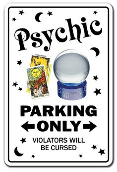 Psychic Sign Parking Palm Reading Gypsy Tarot Reader Palmist ...