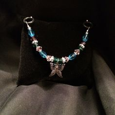 Beaded Stethoscope Charm  Blue Purple Green and by DungleBees, $13.99