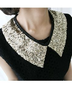 sequinned back-tie detachable collar  CODE: MGACC724  Price: SG $42.45 (US $34.23)
