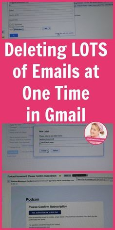 Deleting LOTS of Emails at One Time in Gmail. Learn my tricks here! hacks tech Deleting LOTS of Emails at One Time in Gmail Life Hacks Computer, Iphone Life Hacks, Computer Help, Computer Tips, Computer Lessons, Computer Basics, Computer Internet, Computer Keyboard, Evernote