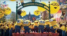 Uma cerimônia antes da inauguração oficial da maior área dos Minions no mundo foi realizada na quarta-feira. Confira mais detalhes! Minions, Parque Universal, Universal Studios Japan, Osaka, Mickey Mouse, Disney Characters, Fictional Characters, Community, World