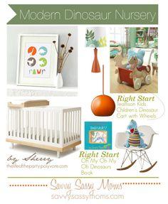 Dinosaur Nursery | Savvy Sassy Moms #pinparty #nursery #baby