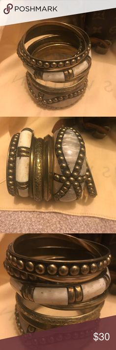 Gold Vintage Style Stacked Bangle Set Gold Vintage Style Stacked Bangle Set Jewelry Bracelets