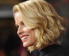 """Many female celebrities are seen rocking different variations of the """"bob"""" hair cut. Artists such as Alice Eve, Brooklyn Decker, Kiera Knightly, Etc. The popularity of this hair style has definitly gained popularity and has been adopted by many other social groups. -Katie Patchin"""