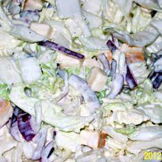 Kínai kelsaláta dióval és csirkemellel | Nosalty Potato Salad, Buffet, Cabbage, Potatoes, Vegetables, Ethnic Recipes, Food, Potato, Essen