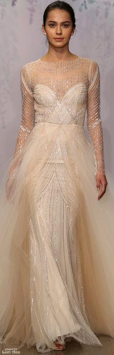 Monique Lhuillier Bridal Spring 2016.