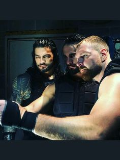 Roman Reigns Dean Ambrose & Seth Rollins Shield brothers, oh how I miss this Wwe Superstar Roman Reigns, Wwe Roman Reigns, Brie Bella, Nikki Bella, Dean Ambrose Seth Rollins, Roman Reigns Dean Ambrose, The Shield Wwe, Roman Reings, Wrestling Stars