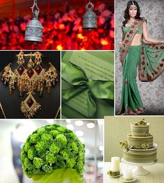 Green and Red Inspiration Board