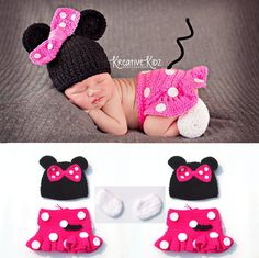 Hot Sale Crochet Infant Newborn Baby Photography Props Knitted Baby Boys Girls Cartoon Costume Bebe Foto Props
