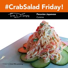 Delight yourself with this delicious dish: Kani crab mix with dynamite sauce, masago, sesame oil, scallions, red onions, mint and cucumber. #CrabSalad #LunchTime #FoodSampler #food #foodie #peru #japan #miami #doral #peruvianfood #comidaperuana #comidajaponesa #japanesefood #ceviche #catering #cater #restaurant #miamirestaurants #bestrestaurants #comida #comer #eaters #foodporn #like4like #restaurants #peru #peruvian #cuisine #peruviancuisine #japanesecuisine