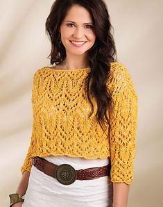 Dawning by Berroco Design Team, knit in Berroco Karma, Creative Knitting Summer 2015