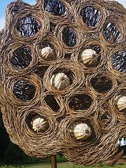 Willow interpretation of a lotus pod