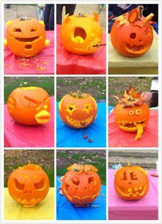 Pumpkin carving in Brock!
