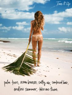 tone it up katrina scott palm trees ocean breeze salty air sunkissed hair endless summer take me there quote - Modern Katrina Scott, Fun Workouts, Summer Workouts, Celebrity Workout, Tone It Up, Beach Babe, Fitspiration, Fitness Inspiration