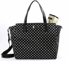 Amazon.com : Kate Spade Taden Baby Diaper Bag - Blake Avenue - WKRU3524 (Black) : Baby