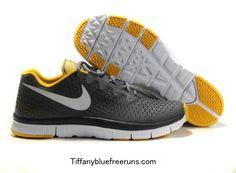 Cool Grey/Yellow/Reflective Silver Nike Free Haven 3.0 Boys $50
