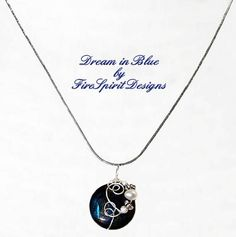 Dream in Blue OOAK necklace beaded necklace artisan