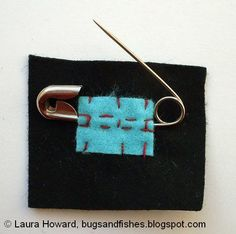 Bugs and Fishes by Lupin: How To: design and make a felt brooch